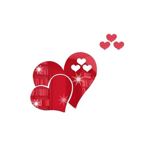Love Heart Shaped Wall Sticker 3D Home Furnishing Art Decorate Stickers DIY Room Decor Valentine Day OWD4974