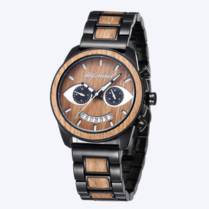 A12021 Men's Tiktok Wooden Watch Shake Voice Fashion Smile Shifenmei Watcha1