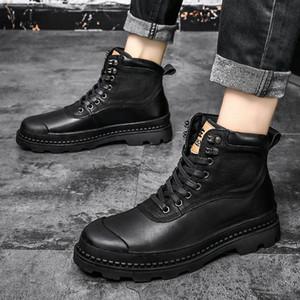 남성 신발을위한 2020 남자 부츠 모피 따뜻한 발목 부츠 성인 motocycle 눈 겨울 신발 남자 큰 크기 47 S7AQ #