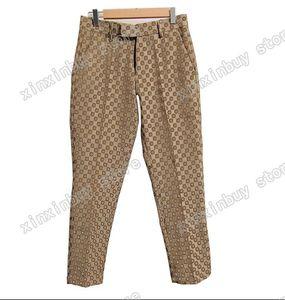 21ss mens camiseta calças cor jacquard letra homens jogging calça casual magro encaixar letras de corpo de calças