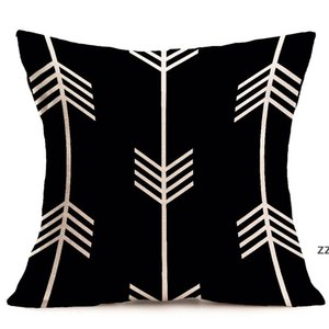 Halloween Christmas Black White Pillow Case Geometry Cushion Govers Cotton Linen Pillows Cover For Sofa Bed Nordic Throw HWE10027