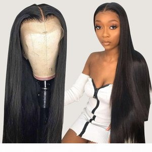 30 Inch Bone Straight Front Short 4x4 Closure Wig Brazilian Long Lace Frontal Human Hair Wigs For Black Women Hd Full