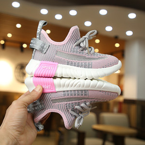 2021 children's sports shoes coconut shoes breathable solid spring and autumn new girls' shoe parent child shoes