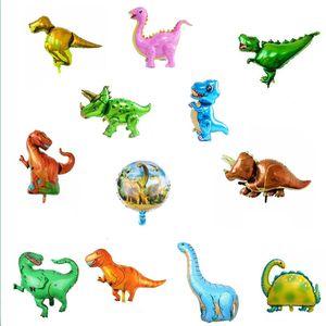 Dinosaur Party Decoration Tyransaurus Rex Triceratops Алюминиевый воздушный шар День рождения Украшения Динозавров Воздушный шар Детский Подарок DHL