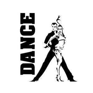12.6 * 15.1 Exercice aérobique Gymnastique Dancing Decor Autocollant de voiture Silhouette Vinyl C16-2079