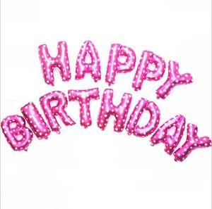 Helium Balloon Happy Birthday Alphabet Balloons Set Baby Birthday Party Decorative Balloon Birthday Wedding Decorations Supplies SEA GWC6007