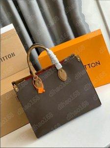 Women Fashion Totes Designer Handbags Genuine Leather Onthego Tote Handbag Messenger Bag Shoulder Bags D6647