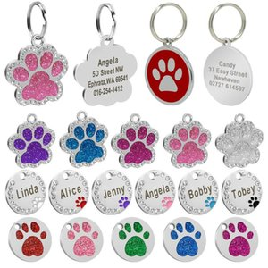 Custom Dog Tag Personalized Pet Dog Collar Accessories Pendant Stainless Nametag Tag Anti-lost Steel ID Puppy Engraved