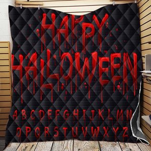Comforters & Sets Happy Halloween Blanket Custom Plaid Witch Horror Cartoon Anime Throw Blankets For Beds Gift Adult Decorat