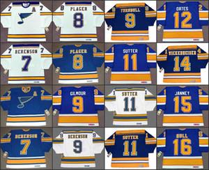 St. Louis Blues 7 Garry Unger Joe Mullen Keith Tkachuk Red Berenson 8 Barclay Pinket 9 Doug Gilmour 11 Brian Sutter CCM NHL Jersey cosido