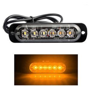 9V-40V 18W LED Car Truck Warning Light Rectangular 1000LM Waterproof IP67 Emergency Beacon Warning Hazard Flash Strobe Light1