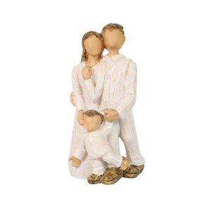 가족 동상 장식 - 세 회원 조각 창조적 인 인형 수지 사랑