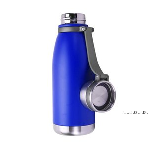 22 oz Stainless Steel Vacuum Insulated Water Bottle Double Walled Cola Shape Thermos Metal Sports Water Bottle EWA3820