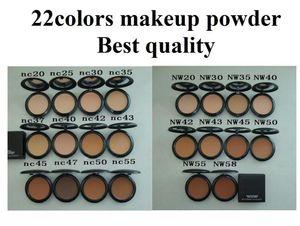 2 unids / lote Maquillaje profesional 22 colores Polvo Studio Powder Plus Foundation Fond De Teint Poudre 15g Fix Powder NC / NW