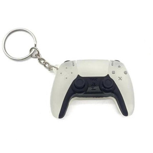 PS5 Game Controller Keychain Mini Gamepad Car Keyring Fashion Bag Pendant Cute Game Console Soft Rubber Key Chains Men Boy Gift