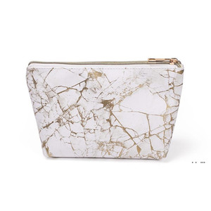 Fashion Marble Cosmetic Bag Creative Dumpling-Shaped Portable Storage Bag Makeup Party Bags Decorative Clutch EWA3948