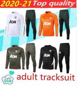 2020 2021 Manchester Former costume Hommes Martial Rashford Football Sportswear pied Jogging Pogba United Soccer TrackSuit Haut Qualité