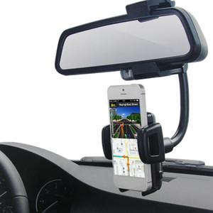 자동차 인테리어 장식 부품 유니버설 자동차 전화 홀더 백미러 GPS 전화 마운트 유연한 암 스탠드