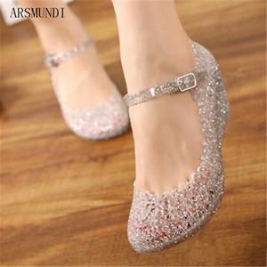 Arsmundi 2019 Yaz Sandalet Bayanlar Moda Kadınlar Plaj Sandalet Casual Oymak Ayakkabı M366 J6HA #