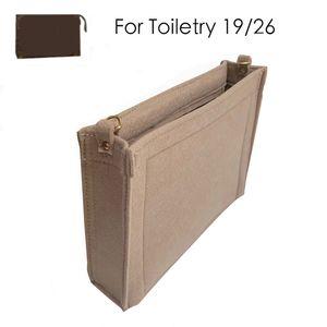 For Toiletry pouch 19 26 bag purse insert Organizer Makeup Handbag travel organizer Inner Purse Cosmetic bag base shaper 210226