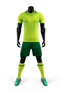 226544 High quality Men Women Arrival Blank Soccer Polyester Football Uniform T-shirt Team suits can be customized