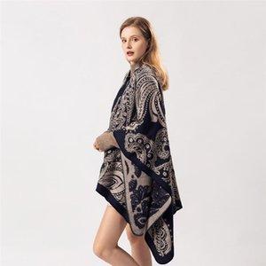 SANMAIHUA DONNE INVERNO Fashion Cashmere Poncho Scialli di stampa calda e avvolgimenti Hijab Stole Long Female Echarpe