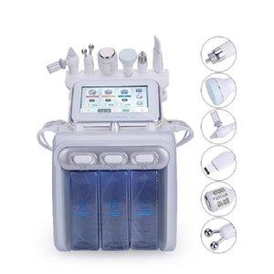 Stok ABD'de çok fonksiyonlu 6in1 H2O2 küçük kabarcık makinesi su değirmeni cilt oksijen yüz güzellik cilt bakımı güzellik enstrüman