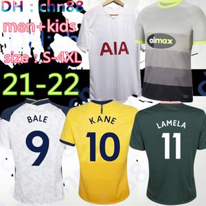 크기 : S-4XL 20 21 22 Kane Son Bergwijn 축구 유니폼 2021 2022 Lucas Spurs Dele Tottenham 축구 셔츠 베일 Ndombele 남자 키트 유니폼