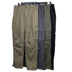 Pantaloni da uomo Pantaloni Top Designer Pantaloni Badge Patch Lettere Uomo Donna Zipper Pista Pant Pant Cotton Casual Cargo Pants Streetwear Bib Gull Sport Hommme Abbigliamento