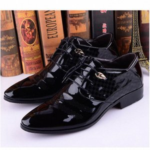 2018 Autumn Spring Oxford Shoes For Men Dress Shoes Men Formal Pointed Toe Business Wedding Formal Wedding Luxury x5TT#