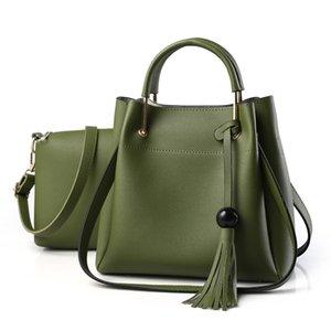 HBP Women Bag fashion style tote Composite bags Female PU Leather Handbag Shoulder Messenger bag Green