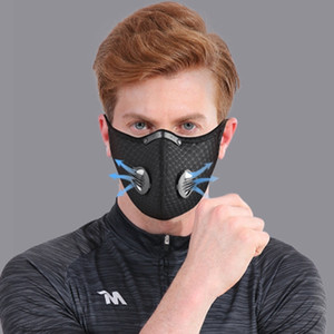 Protection Mask Sports Anti Outdoor Dust Smog Filter Cycling Masks Training Running Adjustable Washable Breathable Mouth Cover LJJ