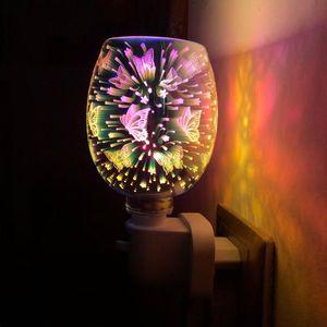 Duftlampen Aroma elektrischer Wachs Schmelzweißbrenner 3D-Touch-Lampe Nachtlicht Tart Diffusor Wärmer UK / US / EU-Stecker