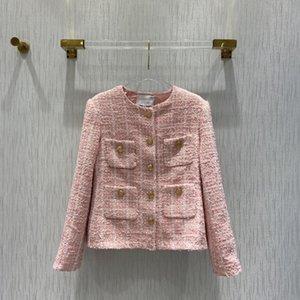 Milan Runway Jackets 2021 Autumn Winter O Neck Long Sleeve Women's Designer Coats Brand Same Style Outerwear 0917-1