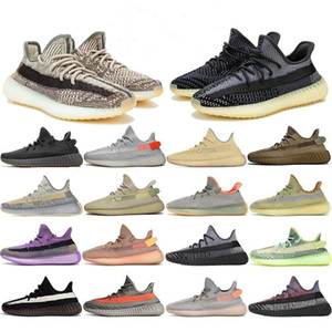 2021 Top Kanye Running Shoes West Earth Desert Sage Cinder Zyon Linen Tail Light Flax Gid Black State 3M Reflective Yecheil Sports Sneakers