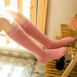 Moda Mektup Seksi Sıcak Uzun Pamuk Lüks Çorap Kadın Bahar Diz Yüksek Uyluk Örme Çoraplar1