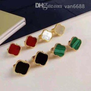 Designer women love ear studs pendant Earrings Cleef Necklaces Screw Bracelet Party carti Wedding earring Couple Gift van Fashion Luxury rings [With box]rtjh