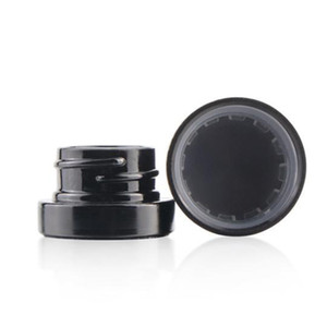 5ml Black Glass Jar Concerntrate Non-Stick Container with Child Proof Lid Dry Herb Wax Dab Jars DHL Free