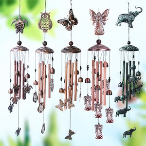 Retro metal butterfly turtle iron arts Pendants wind chime home garden decoration copper outdoor hanging ZC372