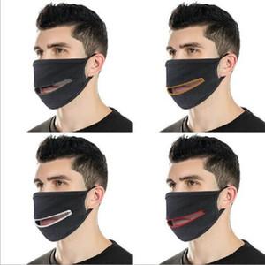 Masks Fashion Creative Zipper Face Zipper Design Easy to Drink Washable Reusable Covering Protective Cotton Designer Masks