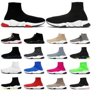 2021 homens mulheres sapatos casuais tênis de alta costura triplo preto branco vermelho rosa amarelo cristal bege tênis masculino tênis
