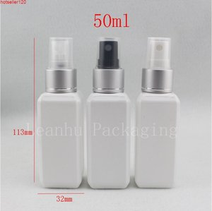 Оптовая цена 50 мл х 50 белые пустые парфюмерии распылительную насос пластиковая бутылка для личной уход, 50cc Sprayer Cosmeticshigh quatiy