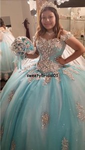 ELegant Blue Quinceanera Dresses with Cloak Lace Appliqued Beaded Corset Vestido De 15 Anos Puffy Skirt Sweet 16 Party Dress