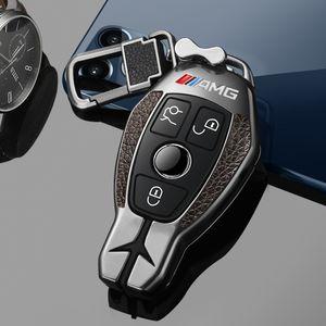 Aluminium Alloy Car Key Cover Case For Mercedes Benz C E C200L GLC260L GLA200 E300L C260L,Key Case For Car