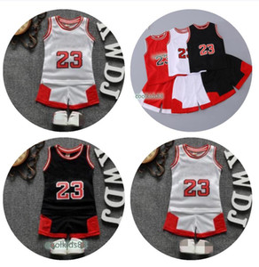 Retail Children basketball 2pcs suits boys girls jersey shorts set baby tracksuits soccer tracksuit kids outfits childrens boutique clothing