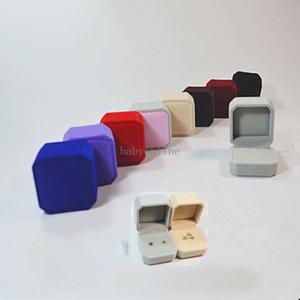 4 * 5 * 5,5cm Casos de jóias de alta qualidade Flocando plástico cor sólida cor caixas caixas dia dos namorados dia de festa de festa