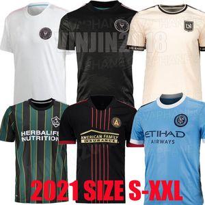 MLS 2021 2022 Los Angeles La Galaxy Inter Miami CF Soccer Jerseys 21 22 Higuain Atlanta United Lafc Beckham Camisetas de fútbol Versión del jugador