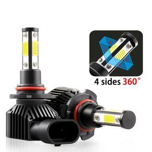 4 Sides Car Headlights H8 H9 H11 LED H7 H1 9005 HB3 9006 HB4 6000K 12V Turbo Fog Lights Bulbs 360 degree