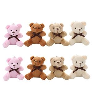 Plush Toys Simulation Bear pendant Mini Doll 9cm Stuffed Animals Toy cartoon children birthday gift Keychain Z2456