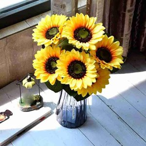1pc 50cm Simulation Plastic Sunflowers Artificial Daisy Flower Bouquet Diy Home Garden Wedding Table Sunflower Decorative Plant